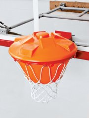 Close up of basketball rebounder for net