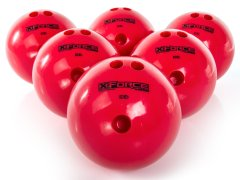 Rainbow colored x-force bowling ball set