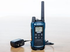 Black t460 motorola two-way radio