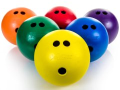Rainbow Striker Rubber Bowling Ball 3lb, Set of 6