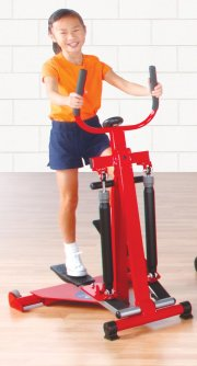 Girl working out on stepper machine