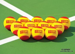 12-ball set of foam tennis training balls