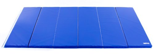 Blue custom logo instructor mat