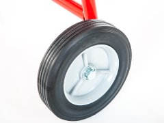 Single 8 inch wheel on cone cart
