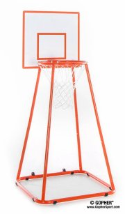 Front of 4ft orange basketball hoop
