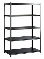 Heavy-duty shelving with adjustable shelves
