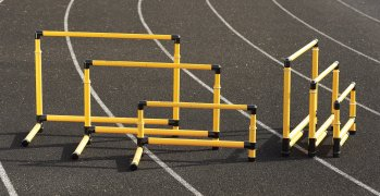 Adjustable and fixed height smart hurdles in various sizes