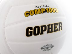 Logo on white official composite volleyball