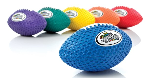 Complete rainbow set of gripper footballs