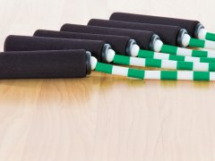 Segmented Jump Ropes with Foam-Covered Handles