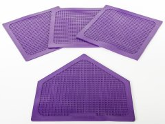 18 inch bases and 21 inch home plate purple set