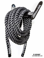 Full view of wall conditioning rope holder